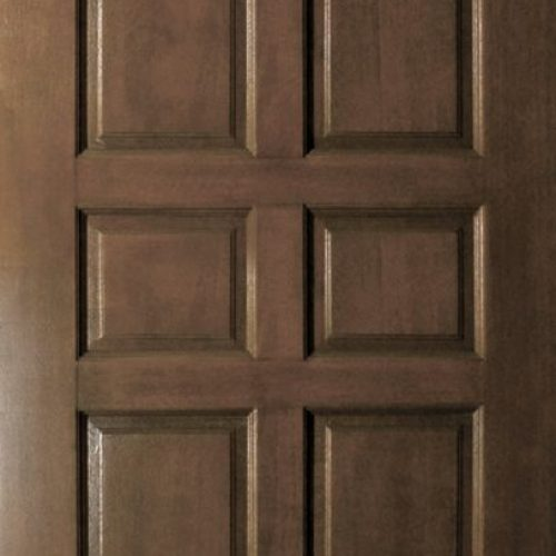 dark timber door