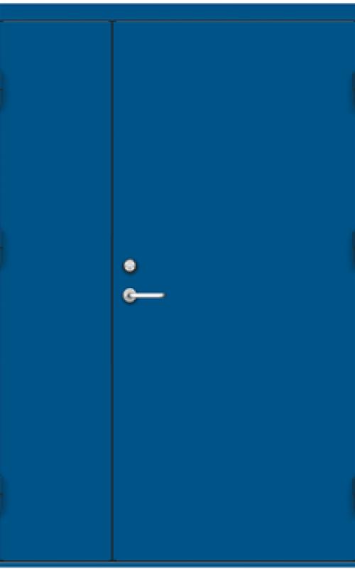 blue Fired-rate door
