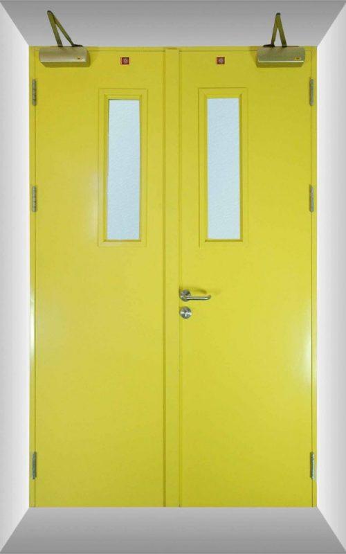 Yellow Fired-rate door