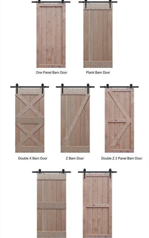 All sliding barn door type